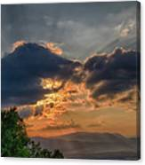 Sunset In The Shenandoah Valley Canvas Print