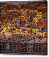 Sunset In Winter Canvas Print