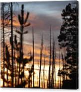 Sunset In Yellowstone Canvas Print
