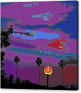 Sunset In Your Colorful Moon Canvas Print