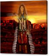 Sunset Indian Chief Canvas Print