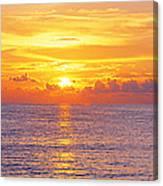 Sunset, Indian Rocks Beach, Florida, Usa Canvas Print