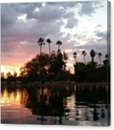 Sunset Island In Chaparral Lake Horizontal  Canvas Print