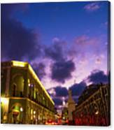 Sunset It Campeche City Downtown Canvas Print