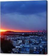 Sunset La Defense Paris France Canvas Print