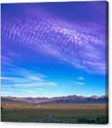 Sunset La Vega Costilla County Co Canvas Print