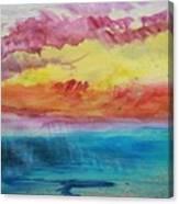 Sunset Lagoon Canvas Print