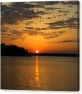 Sunset Lake Pat Mayse From Sanders Cove Canvas Print