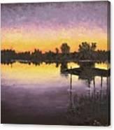 Sunset At Ryba Lake Canvas Print