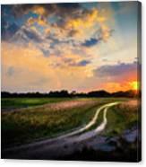 Sunset Lane Canvas Print