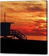 Sunset Lifeguard Station Series Canvas Print