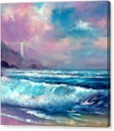 Sunset Lighthouse Canvas Print