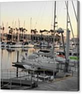 Sunset Marina Del Ray Marina Canvas Print