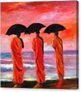 Sunset Meditation Canvas Print
