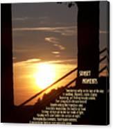 Sunset Moments IIi Canvas Print