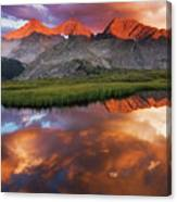 Sunset Of Fire Canvas Print