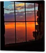 Sunset on Albuquerque's Rio Grande Valley Canvas Print