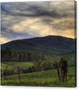 Sunset On Appleberry Mountain 2 Canvas Print