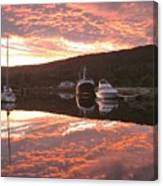Sunset On Caledonian Canal Canvas Print