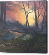 Sunset On Cannock Chase  Canvas Print