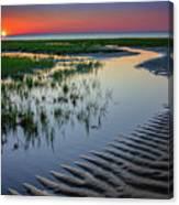 Sunset On Cape Cod Canvas Print