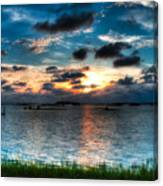 Sunset On Cedar Key Canvas Print