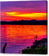 Sunset On Crab Orchard Canvas Print