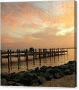 Sunset On Dewey Bay Canvas Print