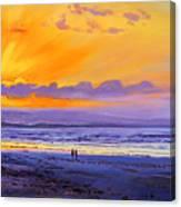 Sunset On Enniscrone Beach County Sligo Canvas Print