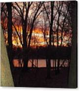 Sunset On Fox River Canvas Print