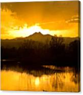 Sunset On Golden Ponds Canvas Print
