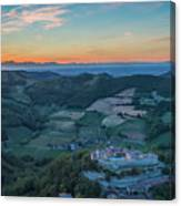 Sunset On Hills Canvas Print