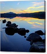 Sunset On Lake Harris 2 Canvas Print