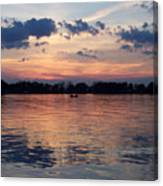Sunset On Lake Mattoon Canvas Print
