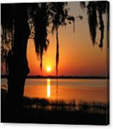 Sunset On Lake Minneola Canvas Print