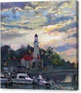 Sunset On Lake Shore Mississauga Canvas Print