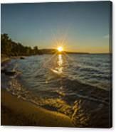 Sunset On Lake Superior Canvas Print