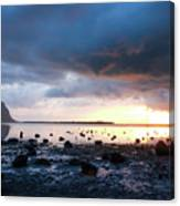 Sunset On Le Morne Canvas Print