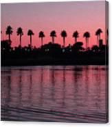 Sunset On Long Beach Bay Canvas Print