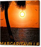 Sunset On Margaritaville Canvas Print