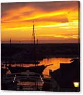 Sunset On Morro Bay Canvas Print