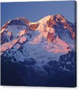 1m4876-sunset On Mt. Rainier  Canvas Print