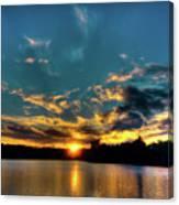 Sunset On Nicks Lake Canvas Print