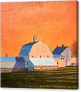 Sunset On Otisfield Barn Canvas Print
