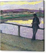 Sunset On Pont Canvas Print