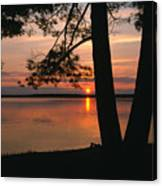 Sunset On Sister Bay Canvas Print
