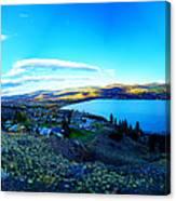 Sunset On Skaha Lake Canvas Print