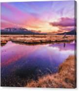 Sunset On Sparks Marsh Canvas Print