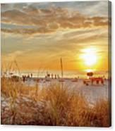 Sunset On St Pete Canvas Print