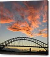 Sunset On Sydney Harbor Canvas Print
